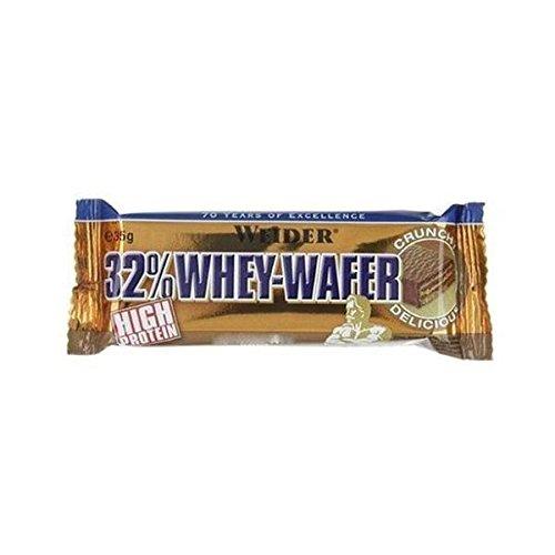 WEIDER 32% WHEY WAFER BAR 24x35g Nocciola.