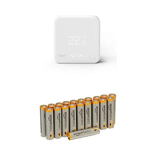 tado° Smartes Thermostat (Zusatzprodukt) - intelligente Heizungssteuerung per Smartphone mit AmazonBasics Batterien