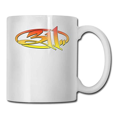 311 Rock Band Taza de café personalidad taza de agua té bebida taza 11 oz