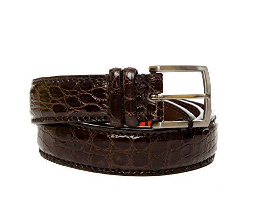 Sendra Boots Gürtel Krokodilleder Modell 9214, Braun 90