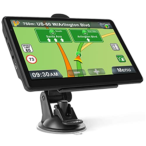 touchscreen with gps GPS Navigation for Car, Latest 2021 Map Touchscreen 7 Inch 8G 256M Navigation System with Voice Guidance and Speed Camera Warning, Lifetime Free Map Update