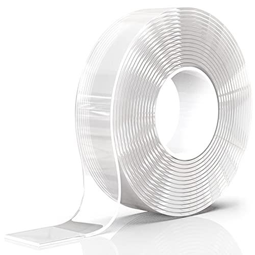 Cinta Adhesiva Lavable Nano Tape Cinta de Montaje Resistente a La Temperatura Cinta de Doble Cara Multifuncional Cinta Adhesiva Para Dormitorio y Oficina Pared Cocina Alfombra FijacióN de Fotos