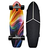 XKAI CX7 Cruiser Surfskate Completo Skateboard Pumping Carver Monopatín para Profesionales y Principiantes Deck, Longboard de Madera de Arce de 75×23cm, Rodamientos ABEC-9, Ruedas de PU de 70 * 51mm
