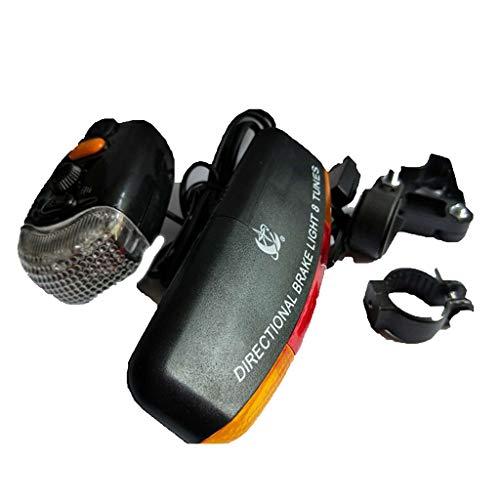 A/B LED Fahrradbeleuchtung-Set,7 LEDs StVZO Zugelassen Fahrradlicht,3 Licht-Modi Rücklicht Rotlicht Vorne für Nachtfahrer, Radfahren und Camping,Sturdy & Duragable