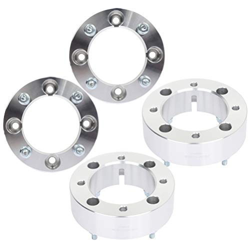 ANGLEWIDE 4pack 2' 4x137 to 4x137 50mm Wheel Spacers Adapters 110mm 4 Lug with 10x1.25 Studs fit for Can-Am Renegade 500 for Can-Am Outlander 400 for Kawasaki Brute Force 650