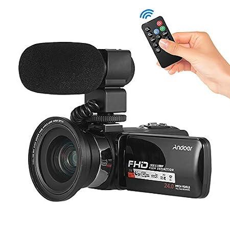 【9/13】Andoer HDデジタルビデオカメラ 3.0インチ液晶ディスプレイ、外部マイク付き 4,800円送料無料!