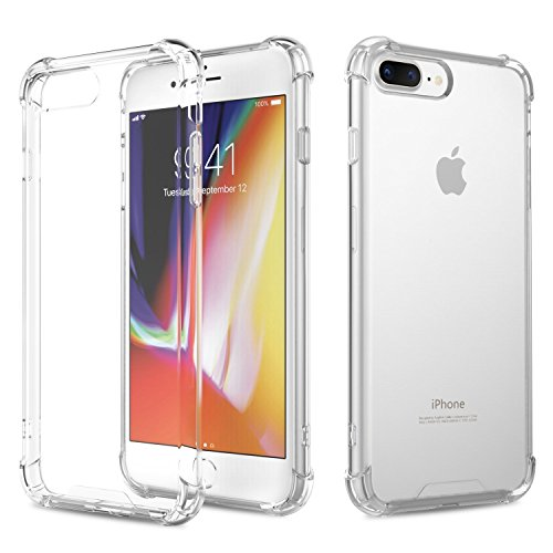 AVANA iPhone 8 Plus Hülle, iPhone 7 Plus Hülle Durchsichtige Schutzhülle Case TPU Schale Cover Kratzfest Handyhülle Klar Bumper Kantenschutz für Apple iPhone 7 Plus/iPhone 8 Plus Transparent
