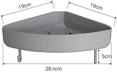 AHEYE 2 Pack Triangle Suction cup Shelf Shower Storage Corner(No Drilling) Shower Holder Organizer Storage,Shower Caddy Sucti