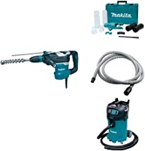 Makita HR4013C 1-9/16-Inch Advanced AVT Rotary Hammer, 196537-4 Dust Extraction Attachment, 192108-A 3/4-Inch by 10-foot Vacuum Hose, & VC4710 12 Gallon Xtract Vac Wet/Dry Dust Extractor/Vacuum