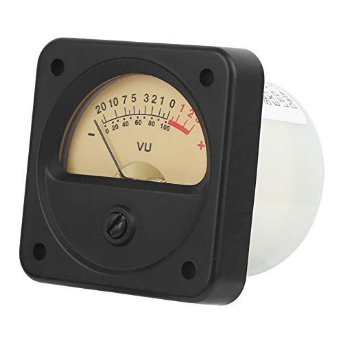 Amplificador Medidor Tr-45 Vu, Medidor Db Alta PrecisióN FáCil Instalar Con Luz Fondo, Accesorio Audio para Medidor Nivel Sonido para Audio AutomóVil