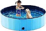 Founten Piscina para Perros - 120 x 30 cm Piscina para Perros Plegable Piscina Antideslizante para Perros y Gatos, Piscina para Perros Adecuada para Interiores y Exteriores