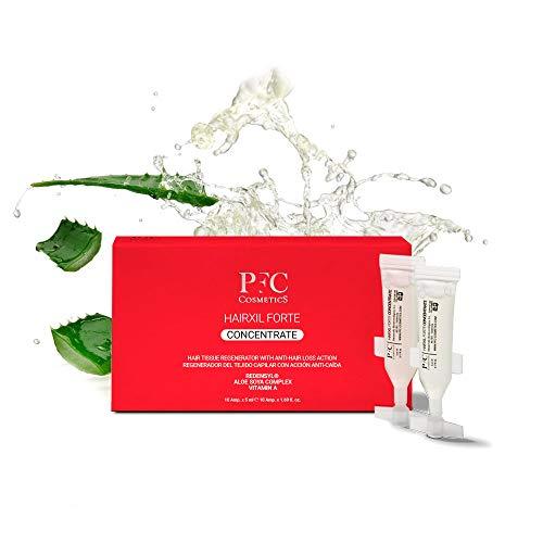 PFC Cosmetics - Ampollas para Crecimiento de Cabello Hairxil Forte Concentrate Tónico para Crecimiento Rápido del Pelo Tratamiento Capilar con Alta Concentración de 3% Redensyl® Vitamina A y E.