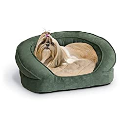 K & H round deluxe ortho bolster sleeper dog bed