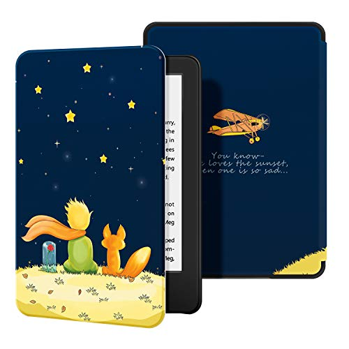 OLAIKE Hülle für Kindle (10. Generation 2019 Modell)- Leichte Schale Intelligente Hülle mit Auto Sleep/Wake - für New Kindle 2019 Releases, The Boy and Fox