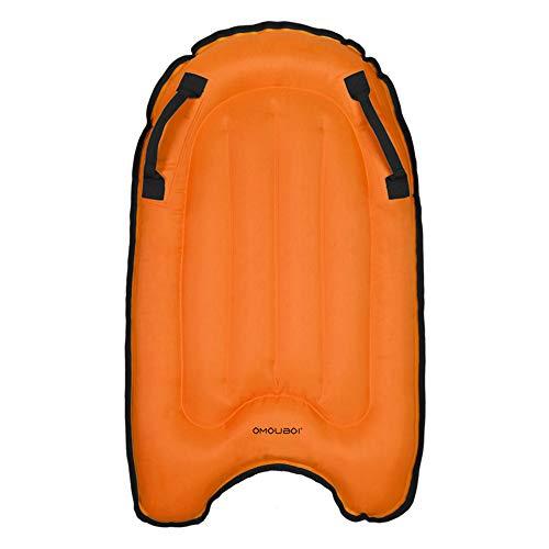 duoying Tabla de surf inflable de bodyboard, tabla de surf de mar segura flotante Mini Kickboard para niños Tableros portátiles suaves para principiantes piscina surf flotante cojín