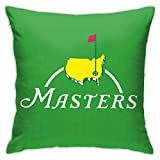 Seonyer 2020 Masters Golf Sports Tournament PGA Pillow Cover pillowsase 18x18inch Cushion Cover Office Decorative for Sofa Couch Bedroom