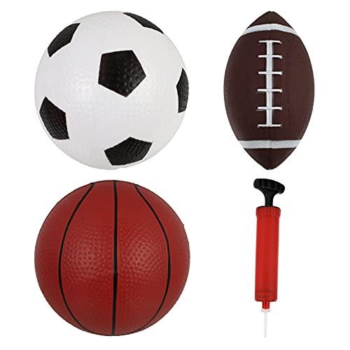 Homoyoyo 1 Juego/3 Piezas Pelota Y Baloncesto Balón Inflable Rugby Fútbol con Bomba
