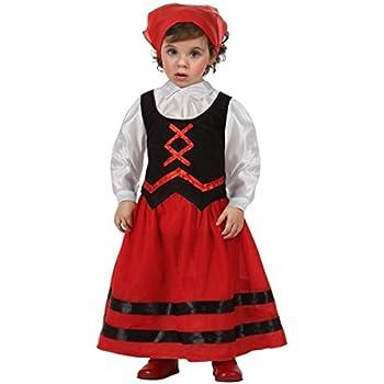 Atosa - Disfraz de pastora rojo y negro, t 12-24 mes: Amazon.es ...