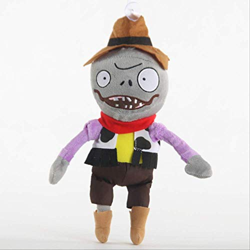 qwerbz Plants Vs.Zombies Plush Toy Game Plush Stuffed Doll Zombies PP Cotton Toys Anime Doll For Children Regalos De Cumpleaños Vaquero Conejito Zombie