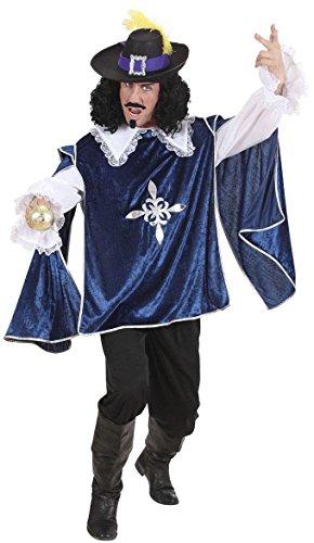 WIDMANN Desconocido Disfraz de Mosquetero Azul Adulto