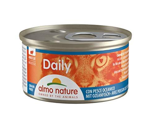 almo nature Daily - Cibo Umido Completo per Gatti Adulti - Mousse con Pesce Oceanico. 24 Lattine da 85G. - 2400 g