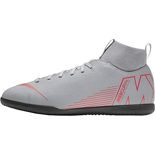 Nike Jr Superfly 6 Club IC, Zapatillas de fútbol Sala Unisex Adulto, Multicolor (Wolf Grey/Lt Crimson/Black 060), 38.5 EU