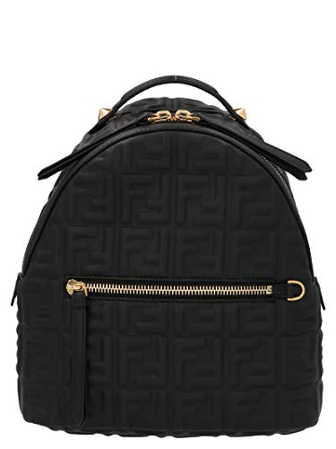 Fendi Luxury Fashion Damen 8BZ038A72VF15ZW Schwarz Leder Rucksack | Herbst Winter 20