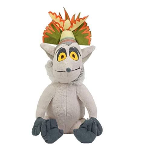 LYH2019 Madagaskar König Julian Plüschtier lustige narzisstische Lemur Ringtail König ausgestopfte Puppe Spielzeug Kinder Geburtstagsgeschenk 30 cm