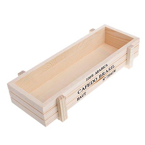 KOFUN Macetero vintage de madera para jardín, maceta de suculentas, rectangular con caja para plantas, color blanco