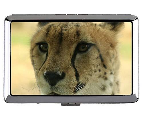 Yanteng Zoo Leopard Keep Business Cards 190618-010 - Tarjetas de Visita, Case6 (Plateado) - YT190618-1Bcase-Q2-006