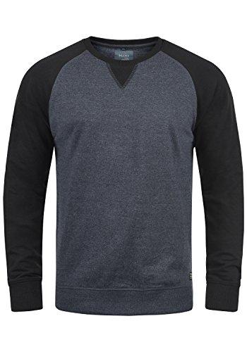 Blend Aari Herren Sweatshirt Pullover Pulli Mit Rundhalsausschnitt, Größe:L, Farbe:Navy (70230)