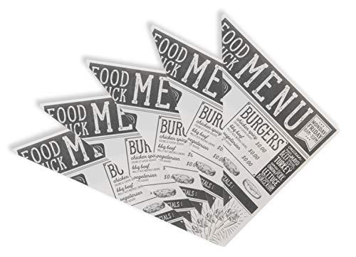 MIK Funshopping Pommes-Tüten Papierspitztüten Snack-Spitztüten Foodtruck-Design, 30 Stück
