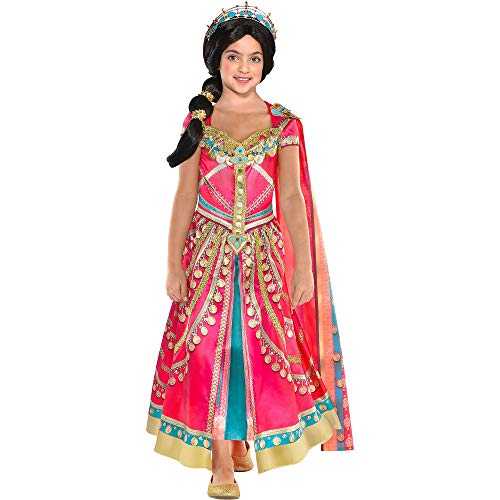 Party City Aladdin Pink Jasmine Costume for Children, Size 3T to 4T, Includes a Fancy Pink Dress with a Matching Shawl