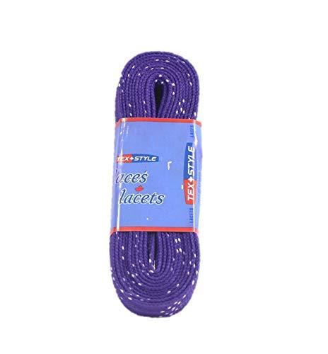 Tex-Style Schnürsenkel Inliner u. Schlittschuhe 180-304 cm Hockey Senkel farbig 274cm (lila)