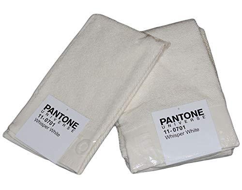 BASSETTI Pantone – Toallas de cara y bidé de algodón, juego de toallas de baño y invitados de rizo de 540 g/m², toalla de 50 x 100 cm para invitados 30 x 50 cm (Whisper White – Beige)