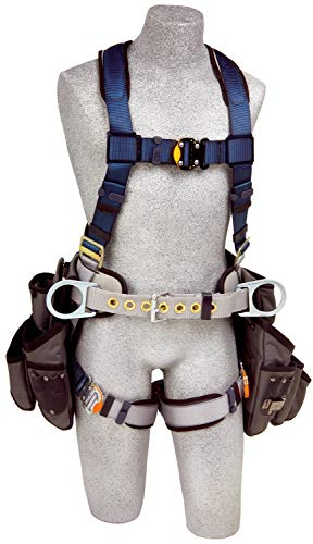 3M DBI-Sala Exofit Construction Style Harness with Tool Pouches 1108517, Medium, 1 Ea