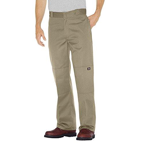 Dickies Men's Loose Fit Double Knee Twill Work Pant, Khaki, 46W x 30L