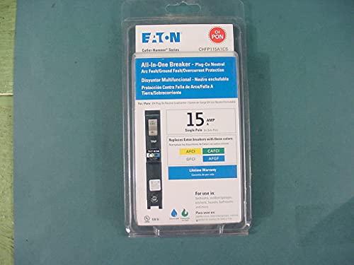 Eaton CHFP115A1CS 15 Amp All in One AF/GF Plug-On-Neutral Breaker