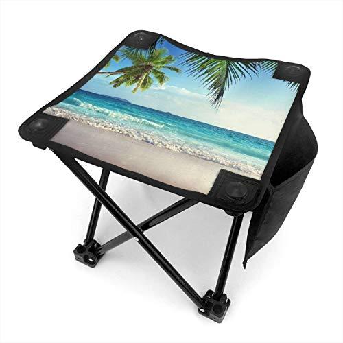 End Nazi Tabouret de Camping chaises Pliantes Palms Ocean Tropical Beach Theme Portable Chair Seat