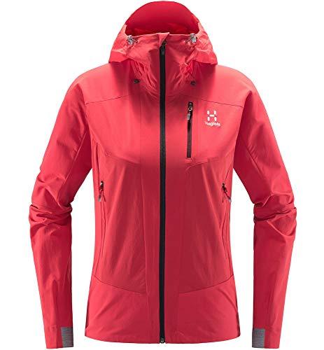 Haglöfs Softshelljacke Frauen Softshelljacke Skarn Hybrid Jacket Women wasserabweisend, windabweisend, Stretch Extra Small Hibiscus red M M