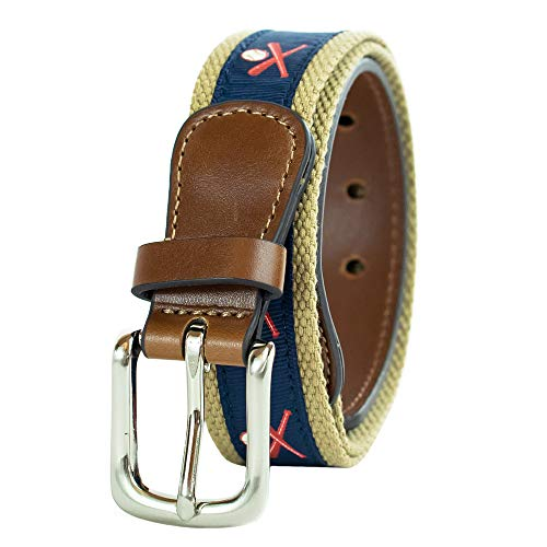 Wembley Big Boys Novelty Fabric Belt, Baseball, M