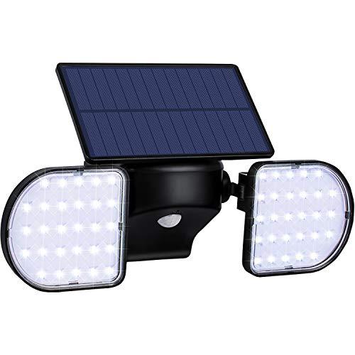 XZN Solarlampen für Außen mit bewegungsmelder, 360 ° drehbare Flankenlampe, 56 LEDs Solarleuchten für außen, IP65 wasserdicht Solarleuchte für Garten, Garage und Weg