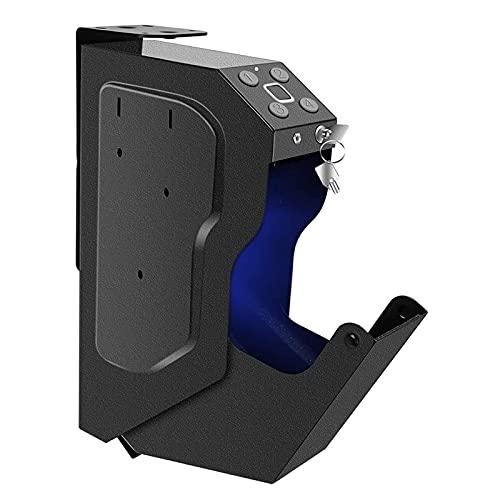 AJDGL Cajas Fuertes para Pistolas - Caja Fuerte para Pistolas de Acceso rápido con Bloqueo biométrico de Huellas Dactilares, Teclado Digital y 2 Llaves de Emergencia