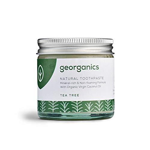 Georganics natürlich biologische Kokosölzahnpasta - Teebaum 60 ml/Remineralizing Natural Organic Coconut Oil Toothpaste - Tea Tree 60ml