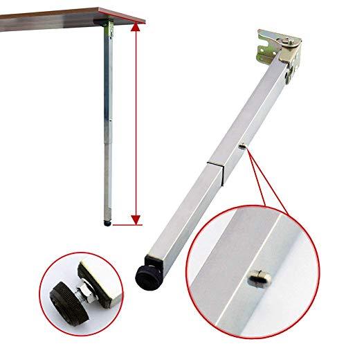 Patas de mesa de comedor plegables de pared pies telescópicos patas de elevación RV pie de apoyo de barra 40-130 cm