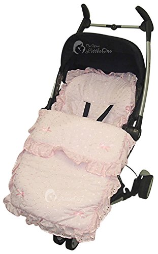 Broderie anglaise/Chancelière cosy orteils Compatible avec Bugaboo Bee Rose