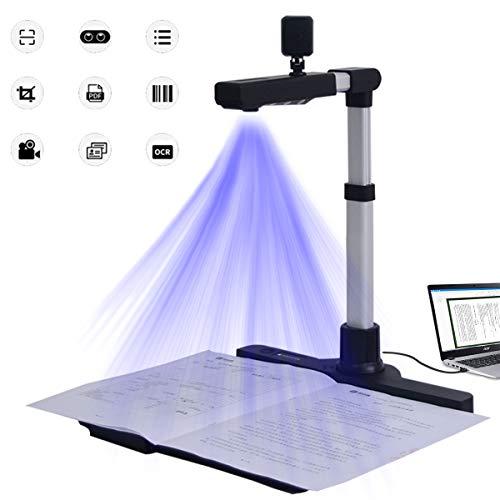 Ycrdtap HD Professionelle Buch- Und Dokumentenscanner, Multifunktion Deskew Buch Dokumentenscanner Mit Aufnahmegröße A3 Für Büro- Und Bildungspräsentationen