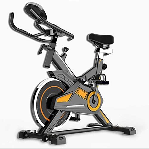 N&I Bicicleta estática para interior con pantalla LCD ultra silenciosa, resistencia ajustable, carga máxima de 150 kg, adecuada para actividades en interiores