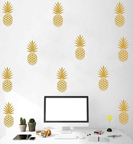 Pineapple Wall Decal Large 12 Set Pineapples Sticker/Home Decor Nursery Kids Bedroom Vinyl Wall Decal Mural (8