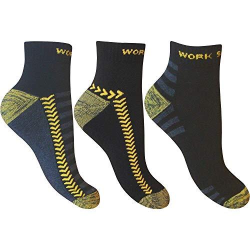 """6 homme noir /""""Big Foot/"""" Active Sport Coton Riche Trainer Liner Chaussettes UK 11-14"""